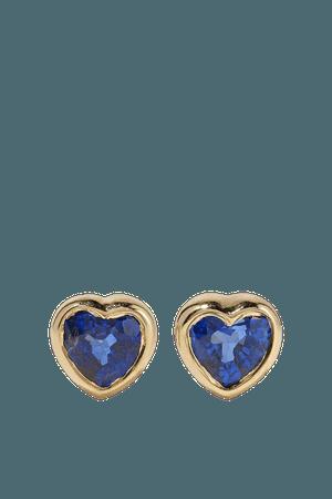 Gold 18-karat gold sapphire earrings   Anita Ko   NET-A-PORTER