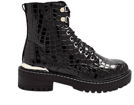 Topshop black lace up boots | ASOS