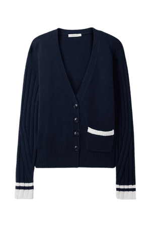 Midnight blue Serena merino wool-blend cardigan | rag & bone | NET-A-PORTER