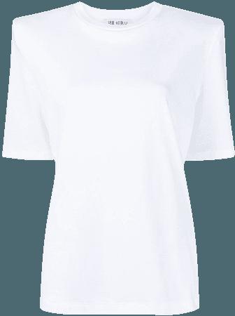 The Attico shoulder-padded T-shirt - Farfetch