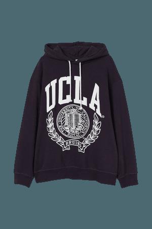 Graphic Hoodie - Dark blue/UCLA - Ladies   H&M US