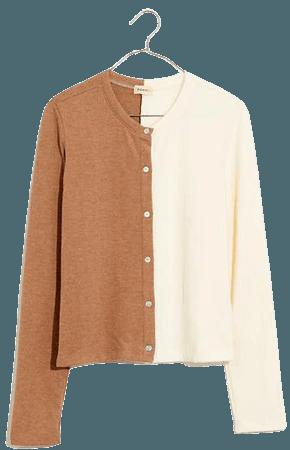 Donni Colorblock Duo Cardigan Sweater