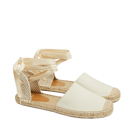 D'Orsay lace-up espadrilles