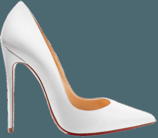 White So Kate 120 patent-leather pumps | Christian Louboutin | NET-A-PORTER