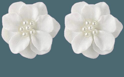 Amazon.com: Clearance! Fashion Design Womens White Flower Shaped Ear Studs Earring Lovely Ear Jewellery Hypoallergenic Pearl Earrings (White): Gateway