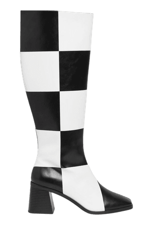 Knee-high boots - Check pattern - Boots - Monki WW