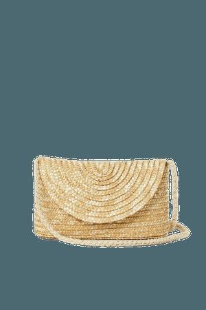 Small Straw Shoulder Bag - Light beige - Ladies   H&M US