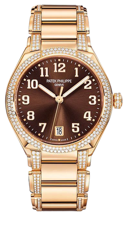 brown gold watch