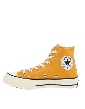 Converse Chuck 70 Hi canvas sneakers in sunflower | ASOS