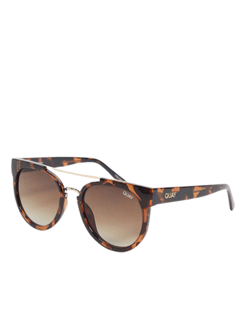 Quay Odin women's round sunglasses in tortoiseshell | ASOS