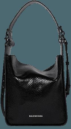 Balenciaga Snake-Embossed Leather Tote   SaksFifthAvenue