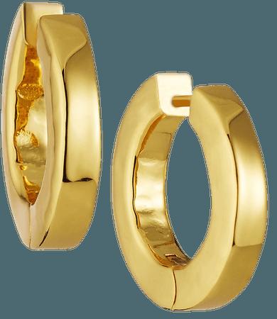 NEST Jewelry Large Hammered Gold Huggie Hoop Earrings