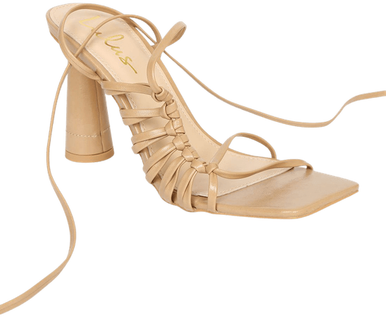 Nude Sandals - Lace-Up Sandals - High Heel Sandals - Lulus