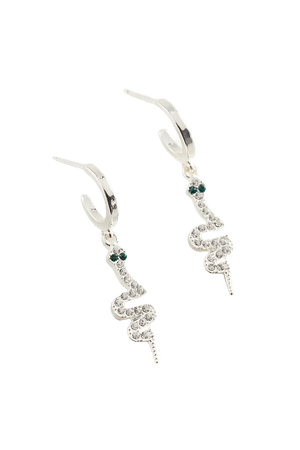 Rhinestone Charm Hoop Earring | Urban Outfitters