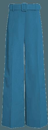 Moiré Wide-Leg Pants By Oscar De La Renta | Moda Operandi