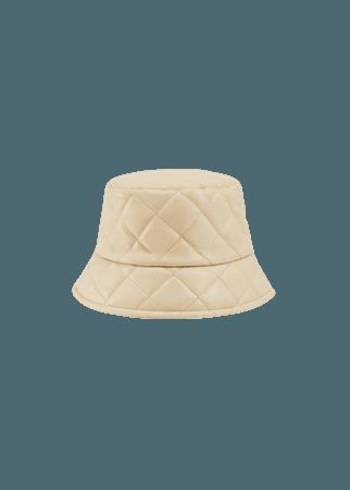 Leather effect bucket hat - Women   Mango USA