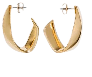 Twisted Metal Hoop Earrings - A New Day™ Gold : Target