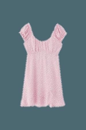Floral print mini dress - ECOVEROTM viscose (at least 50%) - pull&bear
