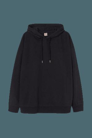H&M+ Long Hoodie - Black