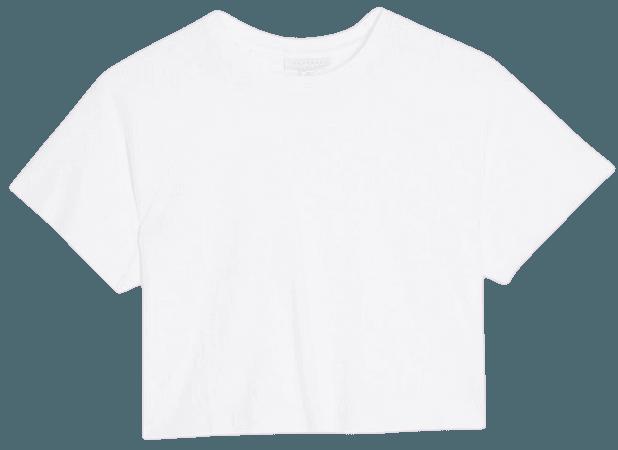 PETITE White Raglan Crop T-Shirt | Topshop