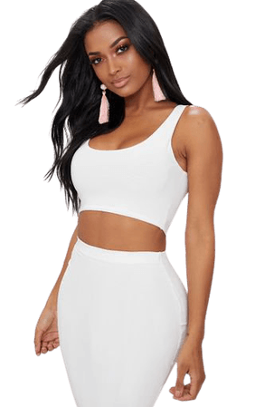 Shape White Slinky Square Neck Crop Top   PrettyLittleThing