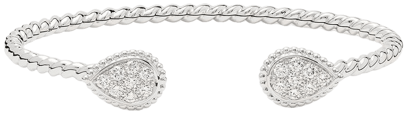 Boucheron Bracelet Torque Serpent Boheme 2 S En Or Blanc 18ct à Ornements En Diamant - Farfetch