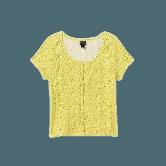 Girls' Ribbed Button-front Short Sleeve T-shirt - Art Class™ : Target