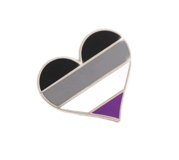 PrideOutlet > Lapel Pins > Asexual Pride Heart Lapel Pin