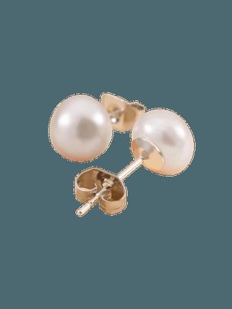 Natural Pearl Decor Stud Earrings | SHEIN USA