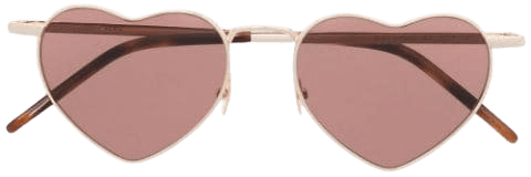 Shop Saint Laurent Eyewear heart-shaped sunglasses with Express Delivery - FARFETCH