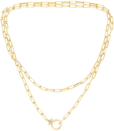 gorjana Parker Wrap Necklace in Gold | REVOLVE