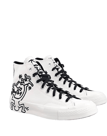 Converse X Keith Haring Chuck 70 Hi sneakers in egret | ASOS