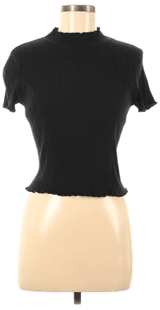 Wild Fable Solid Black Short Sleeve Blouse Size M - 54% off | thredUP