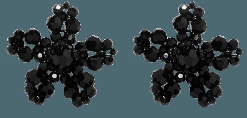 Simone Rocha flower crystal earrings - FARFETCH