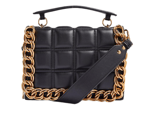 Topshop chain detail bag in black | ASOS