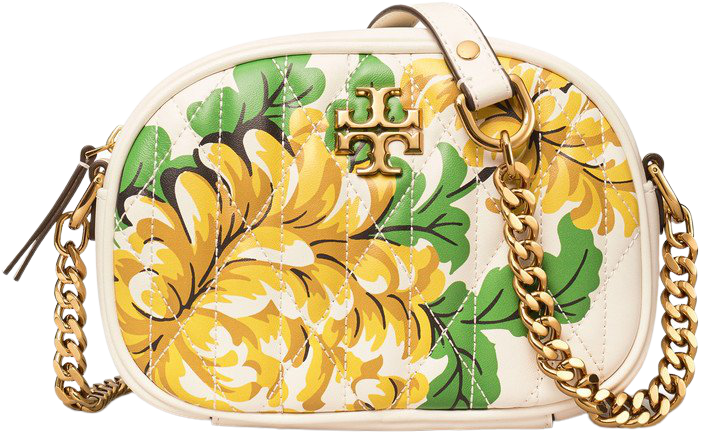 Kira Quilted Floral Leather Crossbody Bag