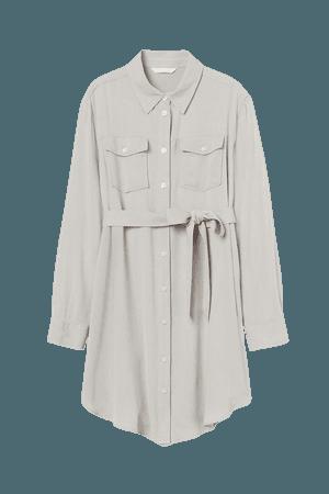 MAMA Shirt Dress - Brown