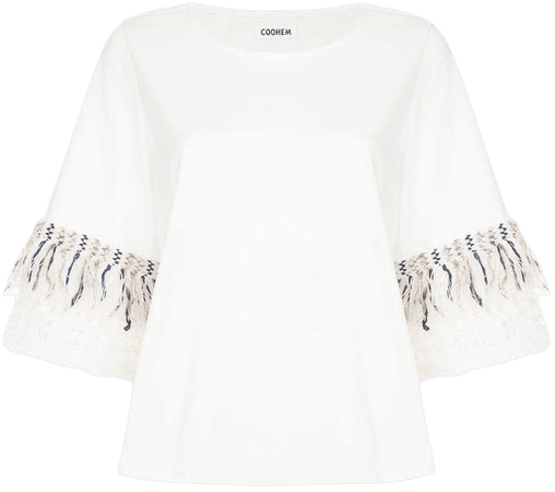 tweed trim T-shirt