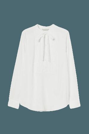 Tie-top Blouse - White