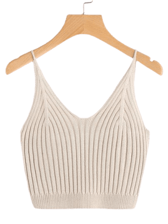 Ribbed Cropped Cami Top   SHEIN USA