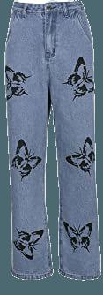 KMBANGI Women Wide Leg Jeans High Waist Streetwear Denim Pants Baggy Jeans Y2K Loose Casual Pants Trousers (C-Blue, L) at Amazon Women's Jeans store