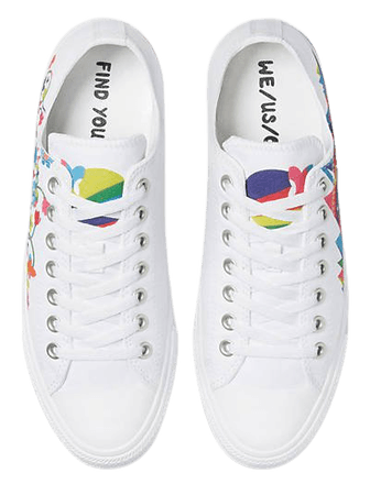 Converse Chuck Taylor All Star Ox Pride sneakers in white/multi | ASOS