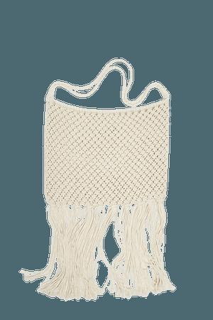 Crochet crossbody bag with fringing - pull&bear