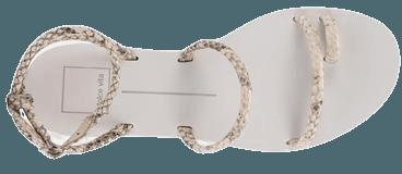 DAREN SANDALS IN BONE EMBOSSED STELLA – Dolce Vita