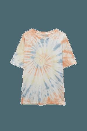 Oversize tie-dye T-shirt - pull&bear