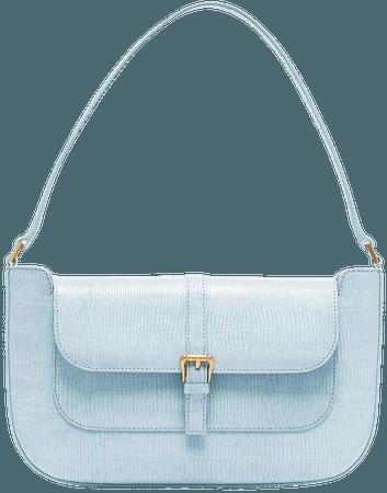 BY FAR Miranda lizard-effect Shoulder Bag - Farfetch