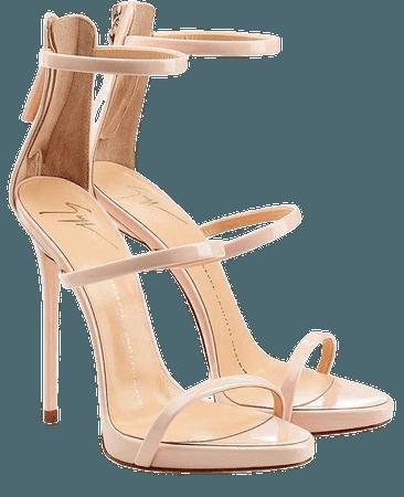 giuseppe zanotti nude heels
