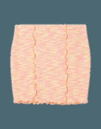 Space dye mini skirt - Skirts - Woman | Bershka