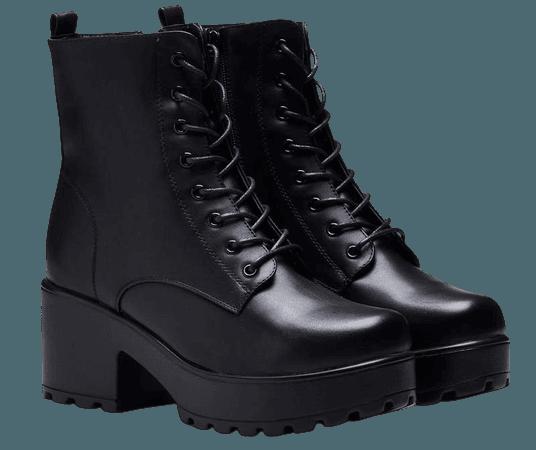 GIN Platform Military Boots | Koi