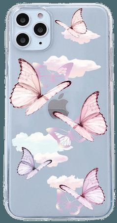 pink purple butterfly phone case
